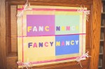 Fancy Nancy Sign made by Martha Stutzman